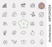 nature line icon set | Shutterstock .eps vector #689104204