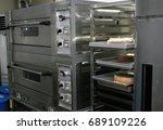 gray industrial bakery oven   | Shutterstock . vector #689109226