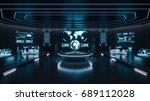 command center interior  3d... | Shutterstock . vector #689112028