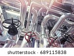 equipment  cables and piping as ... | Shutterstock . vector #689115838