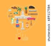 heart shape illustration with i ... | Shutterstock .eps vector #689117584