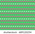 seamless geometric pattern on... | Shutterstock . vector #689120254