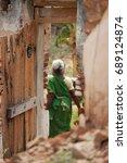 Small photo of Old batten door in villages of TamilNadu