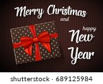 illustration of marry christmas ... | Shutterstock .eps vector #689125984