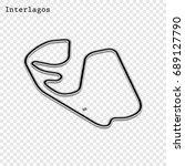 brazilian grand prix race track.... | Shutterstock .eps vector #689127790