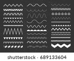 set of white seamless borders... | Shutterstock .eps vector #689133604