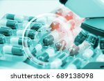 research for new drugs... | Shutterstock . vector #689138098