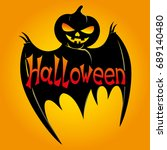 halloween bat. | Shutterstock .eps vector #689140480