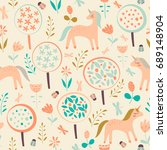 vector seamless pattern for... | Shutterstock .eps vector #689148904