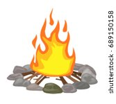 bonfire. vector illustration  a ... | Shutterstock .eps vector #689150158