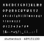 typewriter font   vector  ...   Shutterstock .eps vector #689151100