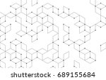 vector abstract boxes... | Shutterstock .eps vector #689155684