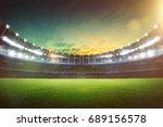 empty night grand stadium with... | Shutterstock . vector #689156578