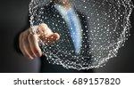 businessman on blurred... | Shutterstock . vector #689157820