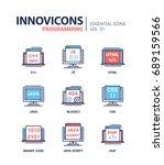 programming   modern essential... | Shutterstock .eps vector #689159566