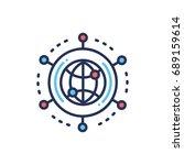global networking   modern... | Shutterstock .eps vector #689159614