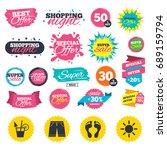 sale shopping banners. beach... | Shutterstock .eps vector #689159794