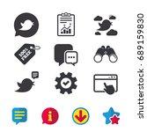 birds icons. social media...