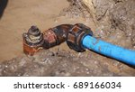 small pipe repairing | Shutterstock . vector #689166034