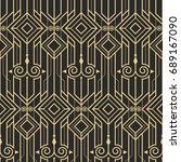 vector modern tiles pattern.... | Shutterstock .eps vector #689167090