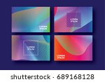 set of 4 trendy colorful...   Shutterstock .eps vector #689168128