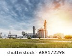 oil and gas refinery  industry | Shutterstock . vector #689172298