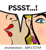pop art style comic book panel... | Shutterstock .eps vector #689172769