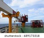 crane operation  crane boom ... | Shutterstock . vector #689173318