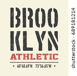 vintage brooklyn typography  t... | Shutterstock .eps vector #689181214