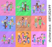 set of different kinds of... | Shutterstock . vector #689182699