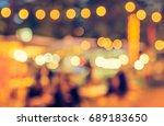 vintage tone blur image of... | Shutterstock . vector #689183650