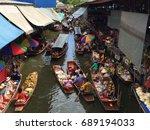 damnoen saduak floating market  ... | Shutterstock . vector #689194033