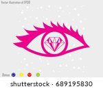 eye  diamond  icon  vector... | Shutterstock .eps vector #689195830