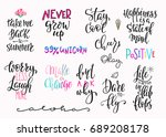 summer lettering  t shirt quote ... | Shutterstock .eps vector #689208178