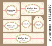 hand drawn floral elements for... | Shutterstock .eps vector #689210890