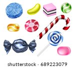 a set of classic sweets... | Shutterstock .eps vector #689223079