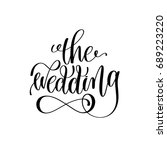 the wedding black and white... | Shutterstock .eps vector #689223220