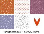 bright set of holiday... | Shutterstock .eps vector #689227096