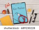 medecine and diet concept  ... | Shutterstock . vector #689230228