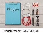 medecine concept   clipboard... | Shutterstock . vector #689230258