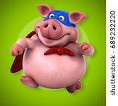 fun pig   3d illustration | Shutterstock . vector #689232220