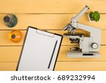 education and science concept   ... | Shutterstock . vector #689232994