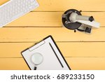 education and science concept   ... | Shutterstock . vector #689233150