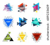 sacred geometry triangle... | Shutterstock .eps vector #689233609