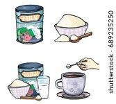 vector set of cartoon... | Shutterstock .eps vector #689235250