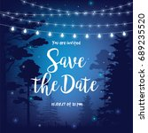 save the date vector... | Shutterstock .eps vector #689235520
