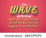 vector of modern stylized font... | Shutterstock .eps vector #689239594