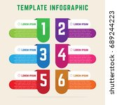 template infographic simple and ... | Shutterstock .eps vector #689244223