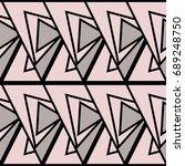 black and white geometric... | Shutterstock .eps vector #689248750