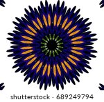 ornament on a white background. ... | Shutterstock . vector #689249794